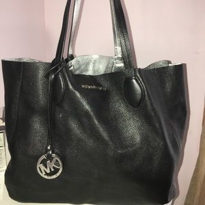 Michael Kors Mae Large Reversible Leather Tote